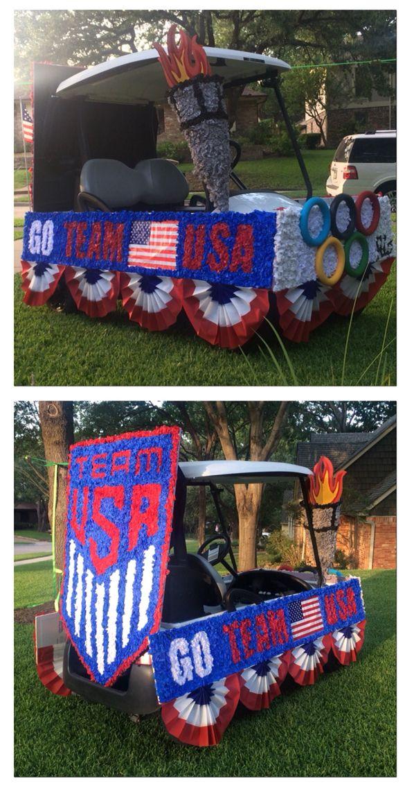 Fourth of July parade golf cart - Olympics!