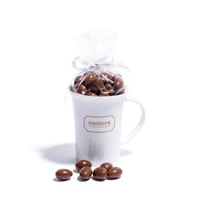 Milk Scorched Almonds in China Mug - moreish Milk Chocolate Scorched Almonds, Mum will love it!