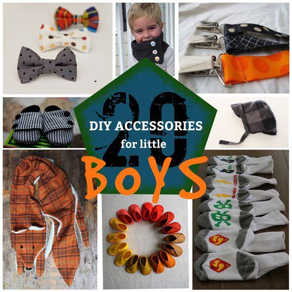 20 DIY Accessories for Little Boys--cute ideas