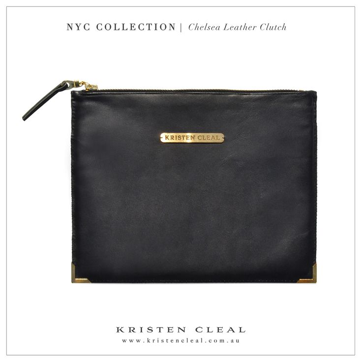 Chelsea Leather Clutch by Kristen Cleal Designs  Shop our online store at www.kristencleal.com.au