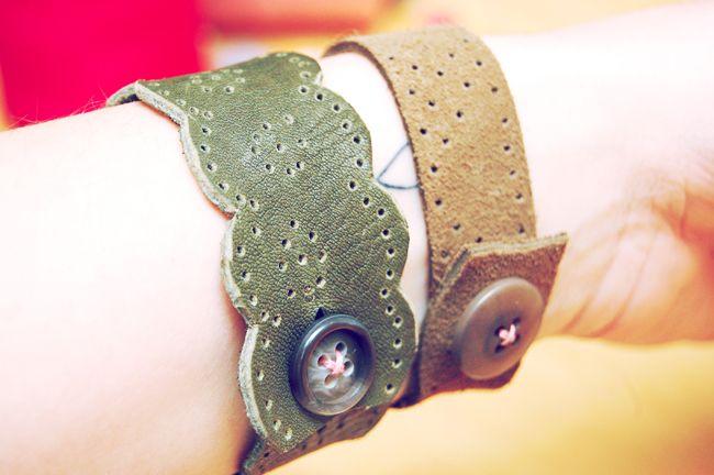 diy project - leather lace bracelet by asuyeta