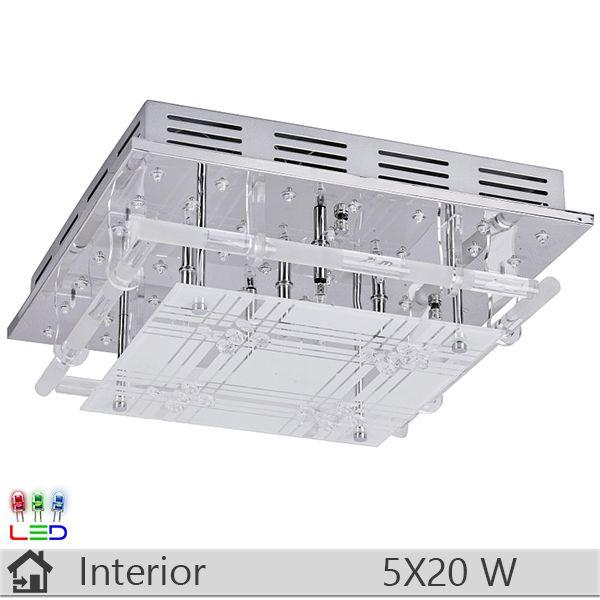Lustra LED iluminat decorativ interior Rabalux, gama Sky, model 2880