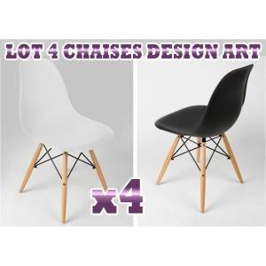 CHAISE Lot de 4 chaises Design ART Blanches super qualité
