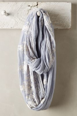 Anthropologie Embroidered Sky Infinity Scarf #anthrofave