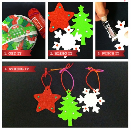 Quick & Easy Foam #Christmas #Ornaments #kids #holiday