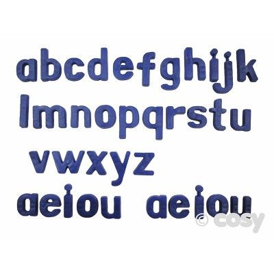 Blauwe plastic magnetische letters (36PK) - Literacy - Early Years - Cosy Direct