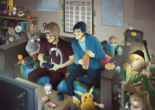 Dan and Phil Fanart by imemalin on tumblr. Full credit to imemalin.