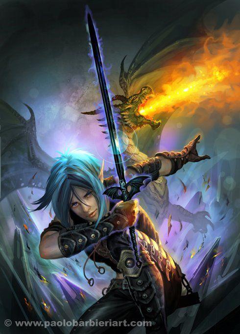 Paladin sword magic at work (artist unknown)