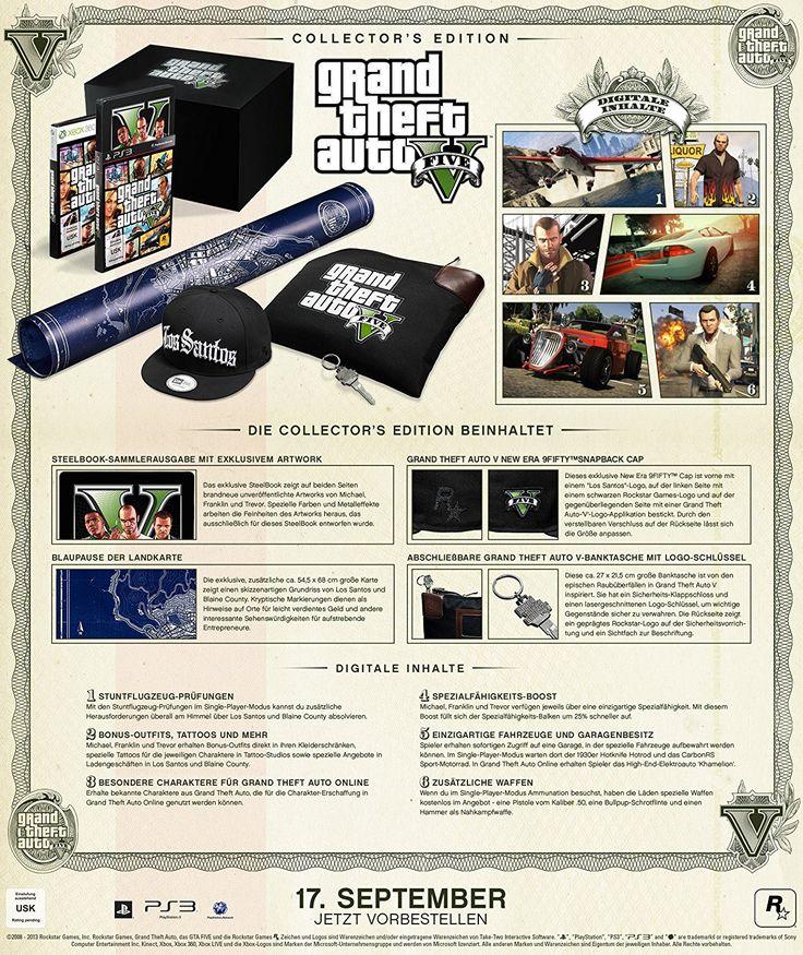 Grand Theft Auto V - Collector's Edition: Xbox 360: Amazon.de: Games