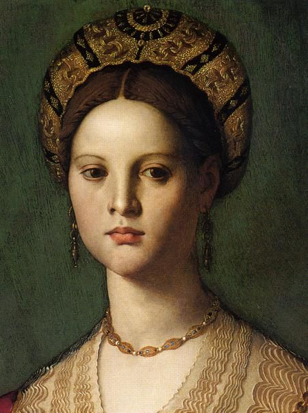 16th century (ca. 1540), Italian  detail from a portrait of a woman with a little boy by Agnolo #Bronzino  Washington, National Gallery of Art #renaissance #art