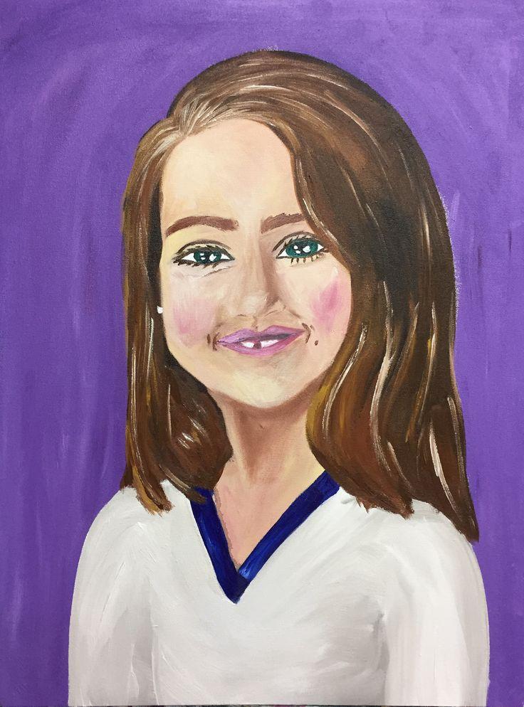 Manoela Dantas self portrait at 7 years old acrylic on canvas september 2016   Manoela Dantas auto-retrato aos 7 anos de idade  Tinta acrílica sobre tela setembro de 2016