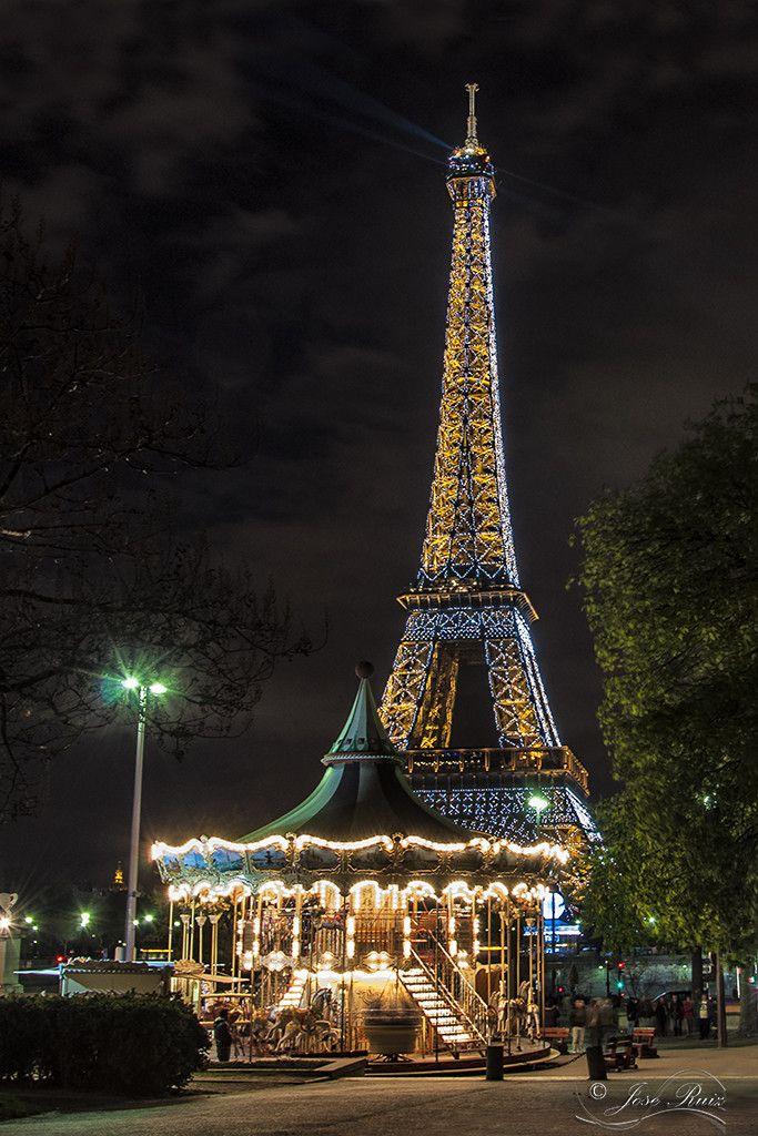 Eiffel tower with carousel - Paris, France