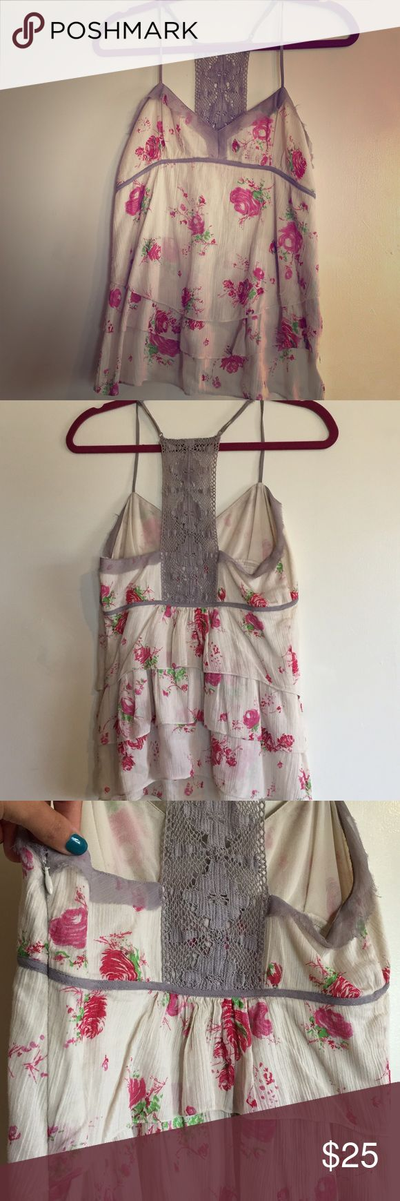 Free People :: Floral Tank; Size 6 Free People :: Floral Tank; Size 6                          Gently used, like new. Classic Free People floral, strappy tank. I love this top. So feminine and fun. Free People Tops Tank Tops
