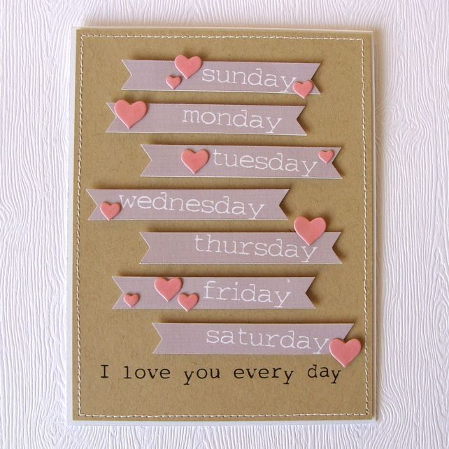Handmade Valentine Cards   Handmade Valentine's or Love Themed Card – Folksy