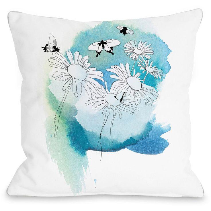 "Daisies"" Indoor Throw Pillow by Judit Garcia Talvera, 16""x16"