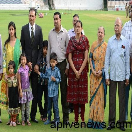 V.V.S Laxman family Still