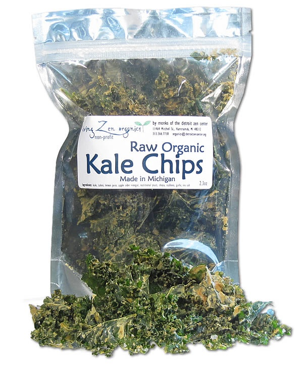 Living Zen Raw Kale Chips; these are actually kind good