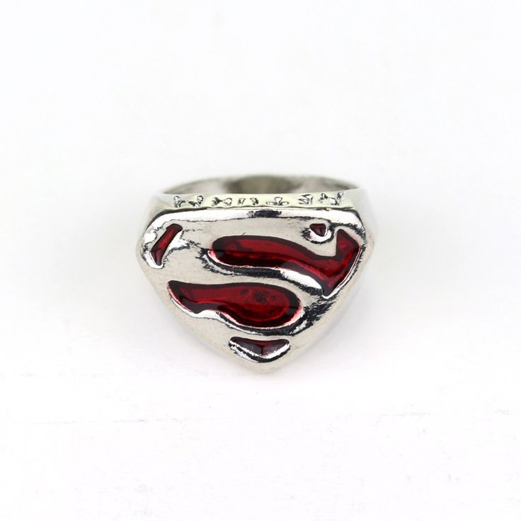 Superman Ring (Red) //Price: $7.99 & FREE Shipping //     #realmofsuperheroes