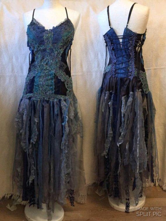 Brautkleid, Boho-Hochzeitskleid, einzigartiges Hochzeitskleid, Fee ...