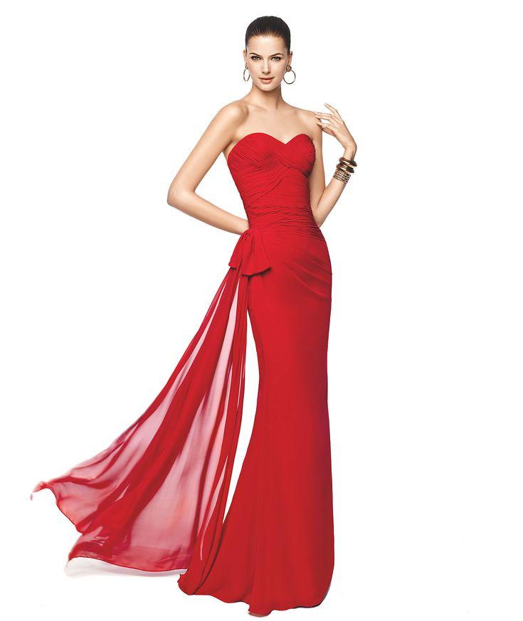 NETANIA - Bright red cocktail dress. Pronovias 2015 | Pronovias