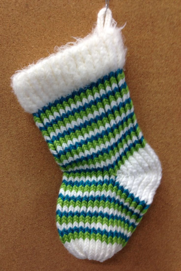Christmas Stocking Loom Knitting Pattern : 126 best Sewing -Yarn, Knifty Knitter Loom images on ...
