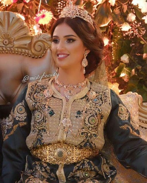 Caftan takchita robe de mariage 2018 , Photos Mariées Marocaines ,  Caftan Marocain de Luxe 2018  Boutique Vente Caftan Pas Cher