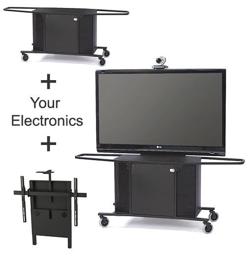 The Package J comprised of the MC1000 cart and the MC-XL display mount are the ideal combination when mobility and durability are mandated. This pair perfectly lends itself to most educational, teaching, business, military, courtroom and corporate training environments.