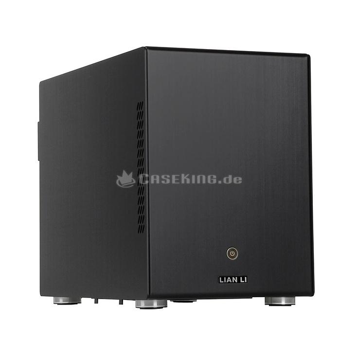 Lian Li PC-Q25B Mini-ITX Cube in schwarz. Es gibt mittlerweile viele Möglichkeiten, sich einen funktionellen Heimkino-Media-PC (HTPC), oder eine kompakte Gaming-Maschine zusammen zu bauen. Aber dermaßen elegant kann es eben nur mit diesem Schmuckstück von Lian Li umgesetzt werden. Der PC-Q25B verfügt verständlicherweise über die bekannten Vorteile der modernen Lian Li Gehäuse - eine hohe Verarbeitungsqualität, eine vollständige Fertigung aus leichtem und stabilem Aluminium mit edel...