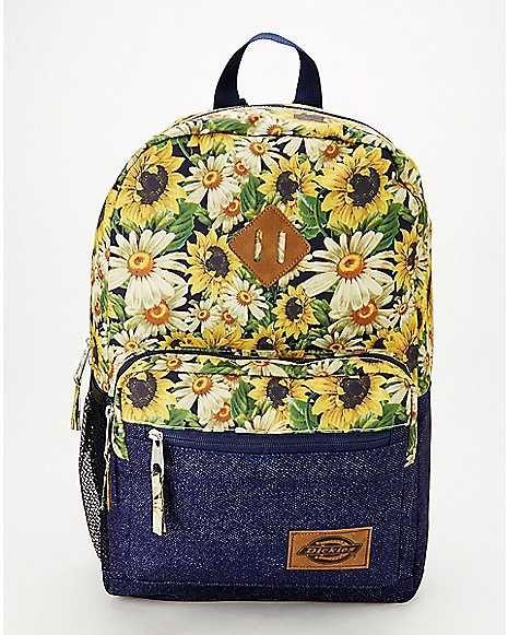 4e482304f1 Denim Sunflower Backpack - Dickies - Spencer's   July Wishlist in ...
