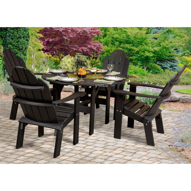 black home set frame styles biscayne patio dining metal piece pd shop