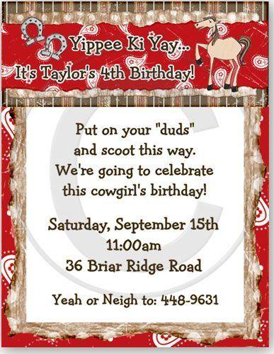Wild West Western Birthday Party Invitation - Set of 20 by Bless Express, http://www.amazon.com/dp/B005S8IGUU/ref=cm_sw_r_pi_dp_Y.xoqb1PB074K