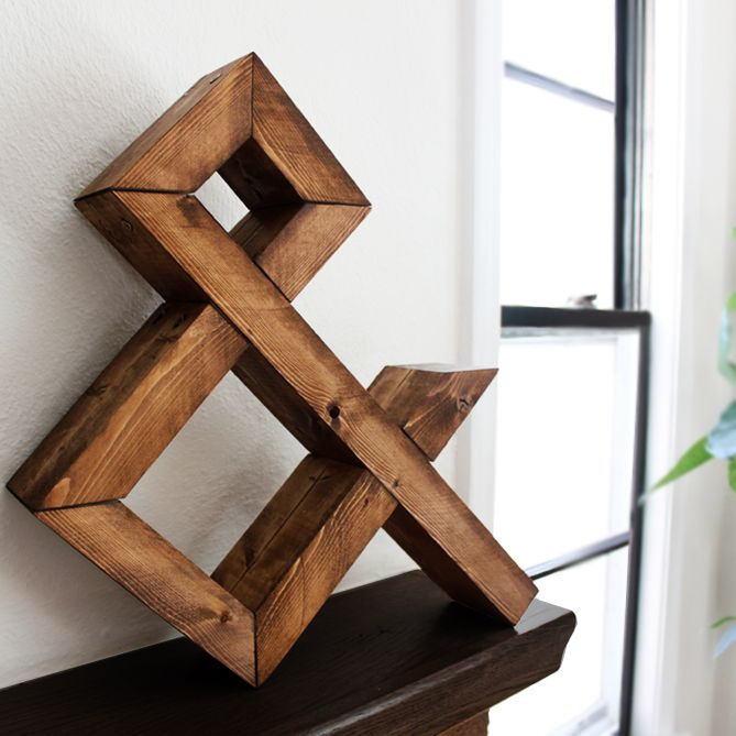"""Standing around 16"""" tall this rugged looking hand made ampersand, is made from a single FSC certified 2""""X4"""" stud."""