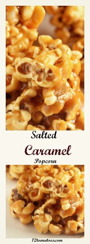 Salted Caramel Popcorn- Homemade caramel popcorn that's a little bit sweet,a little bit salty, a little bit crunchy, and absolutely DELICIOUS!!!