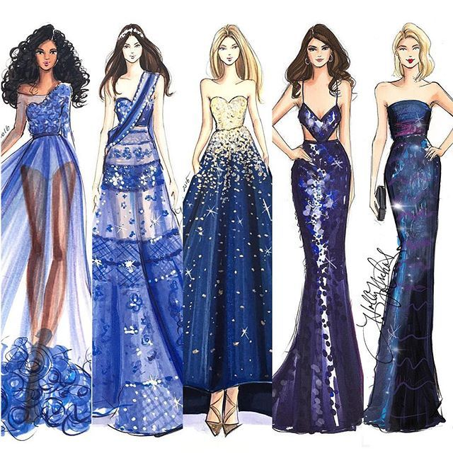 Ladies in blue #fashionsketch #fashionillustration #fashionillustrator #boston #bostonblogger #bostonillustrator #copic #copicmarkers #copicart #hnicholsillustration #etsy #couture #selenagomez #eliesaab