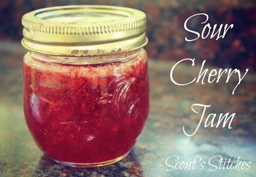 Cherry Jam Sour Recipe - you can use sweet cherries in this recipe