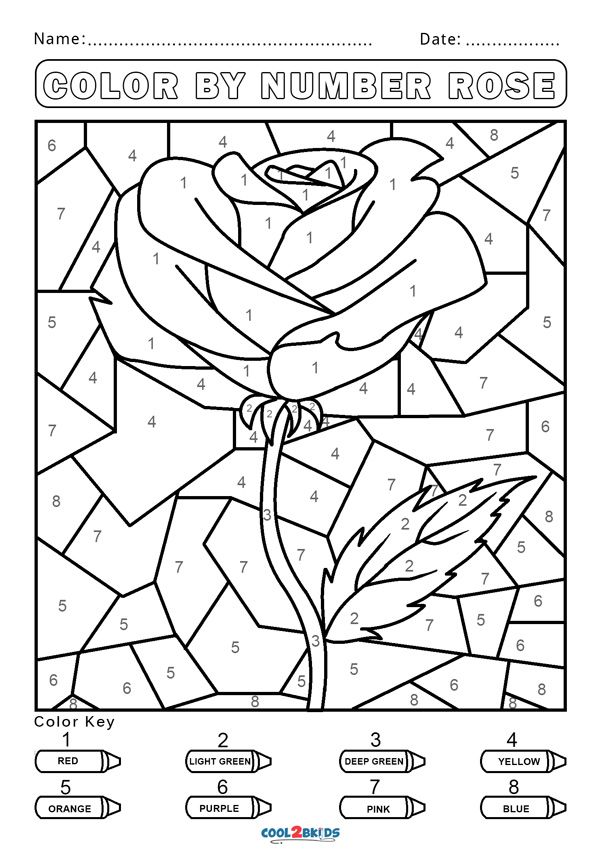 Free Color By Number Worksheets Cool2bkids In 2020 Activity Pages For Kids Free Printables Color By Number Printable Numbers For Kids