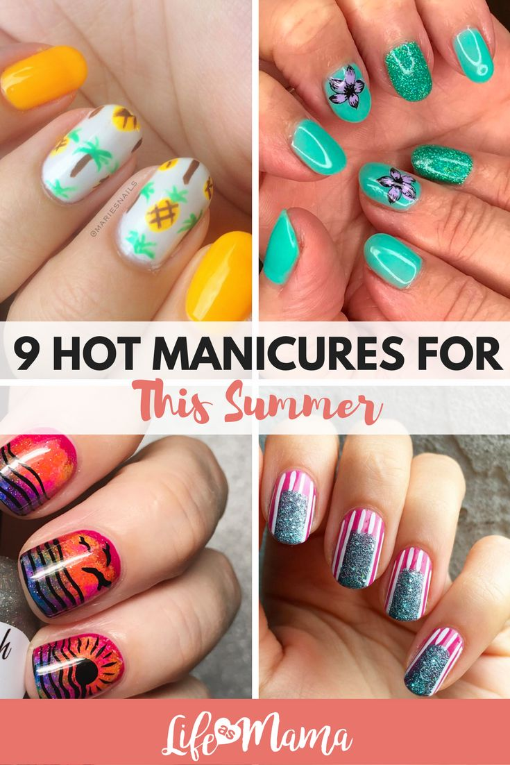 These summer manicures are perfect!