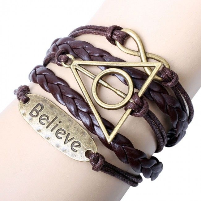 Believe Deathly Hallows Infinity Bracelet for only $8.90 ,cheap Fashion Bracelets - Jewelry&Accessories online shopping,Believe Deathly Hallows Infinity Bracelet is simple but not common! The bracelet have not fancy gems,but it have the fashion soul.