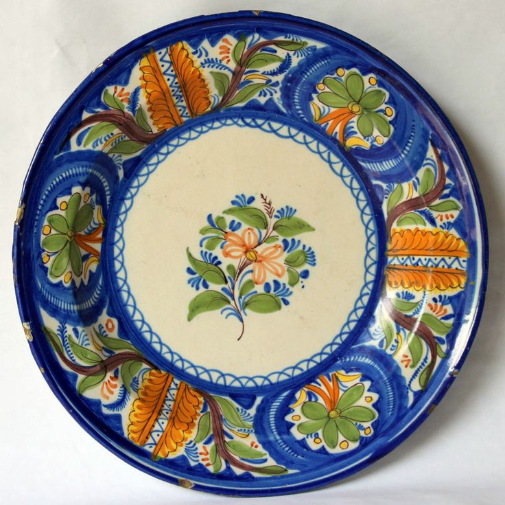 Large Antique Spanish Manises Portuguese Majolica Faience Pottery Plate Charger  sc 1 st  Pinterest & 11 best Plates for walls images on Pinterest | Ceramic plates ...