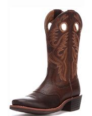 Men's Heritage Roughstock Square Toe Boot, Brown Oiled Rowdy