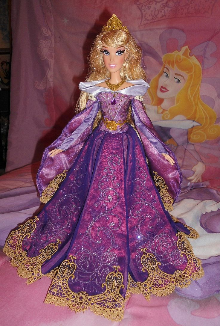 "2014 Disney Store Aurora Limited Edition 17"" Doll with dress changed to purple by SetsunaKou"