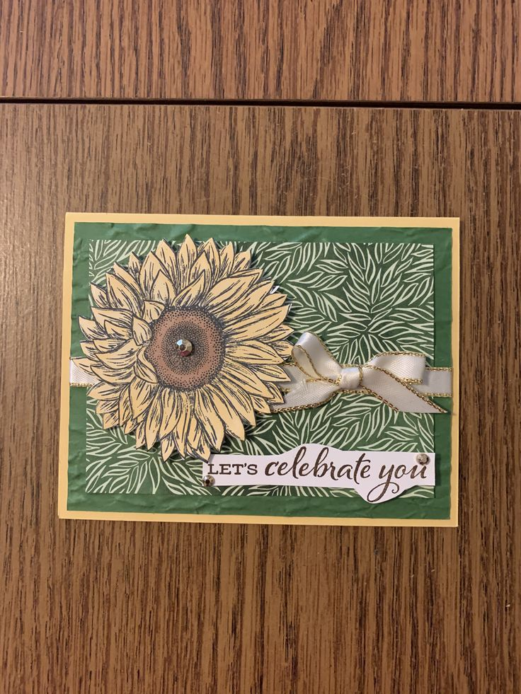 Celbrate Sunflowers Stampin Up in 2020 Sunflower cards