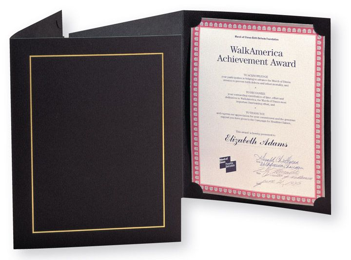We offer Certificate Folders Printing Services in UK and Europe - resume presentation folder