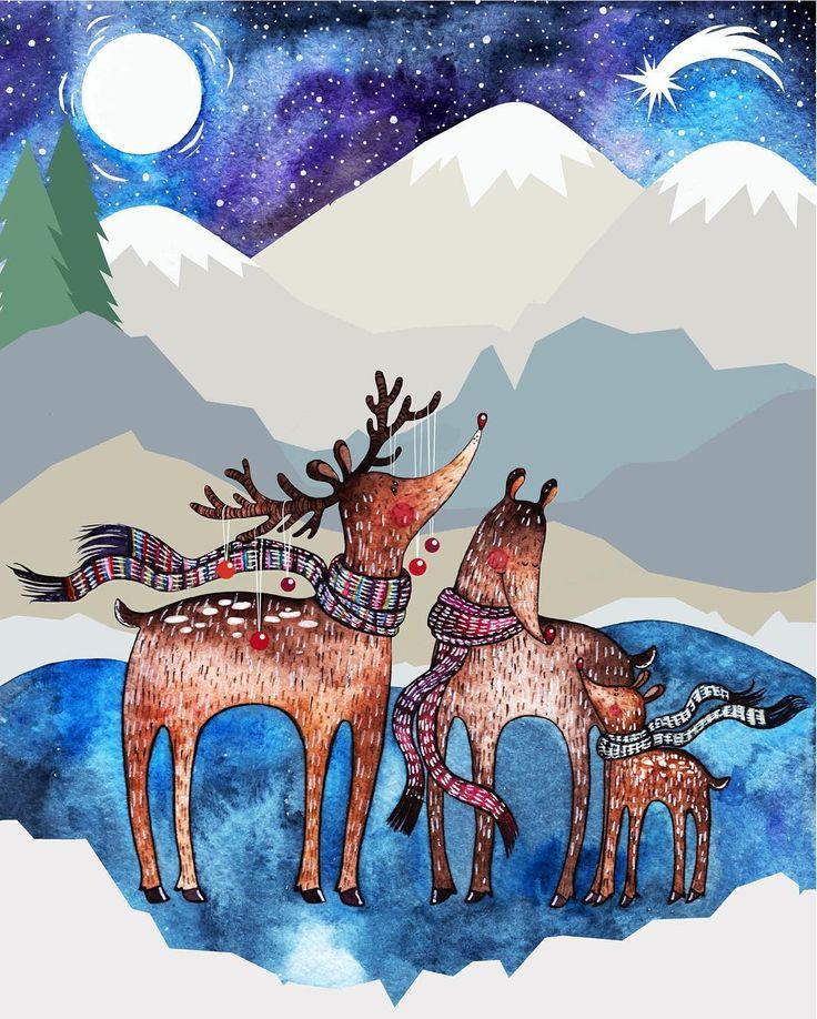 числе картинки северных оленях рисовать для вас