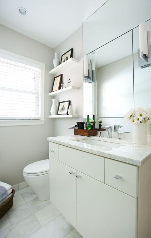 Because Most Bathrooms Are Designed To Be Sleek Spaces, Open Shelving Helps  To Reinforce That