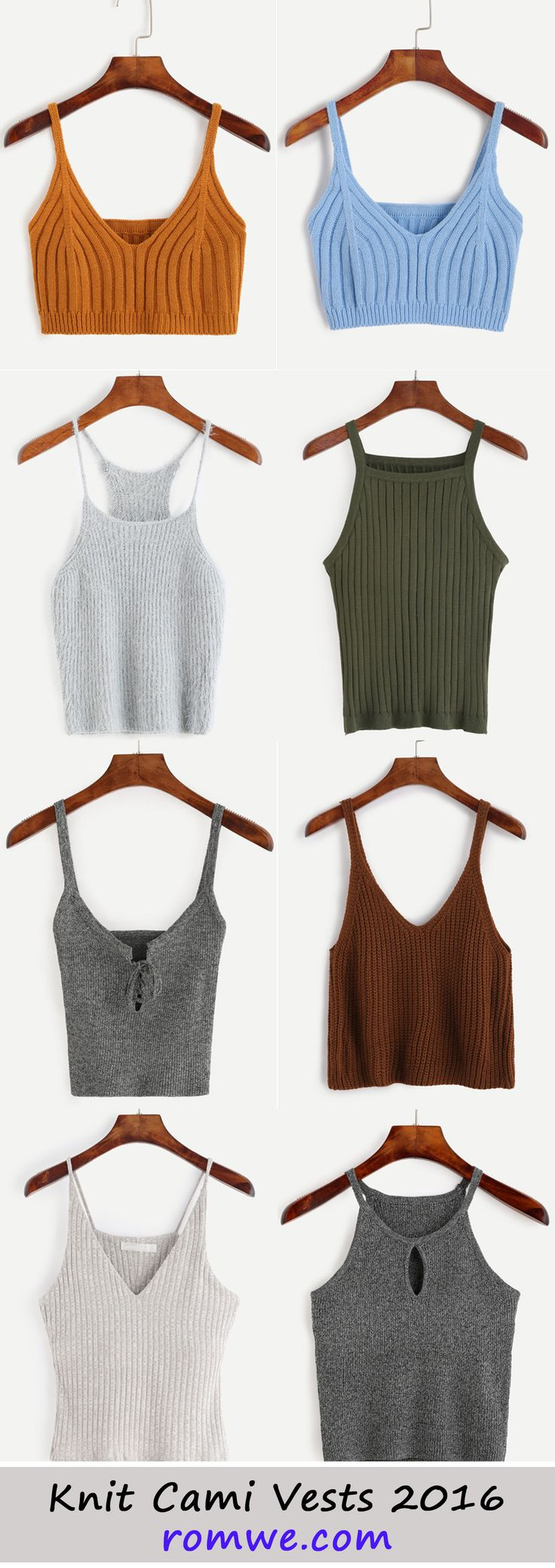 Knit Cami Vests from rowme.com - low price begins at US$3.99 !!!
