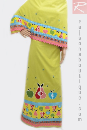 Green Plain Fabric Rida With Machine Embroidery Bunch With Pannelling And Lacing.  Price-Rs.1852