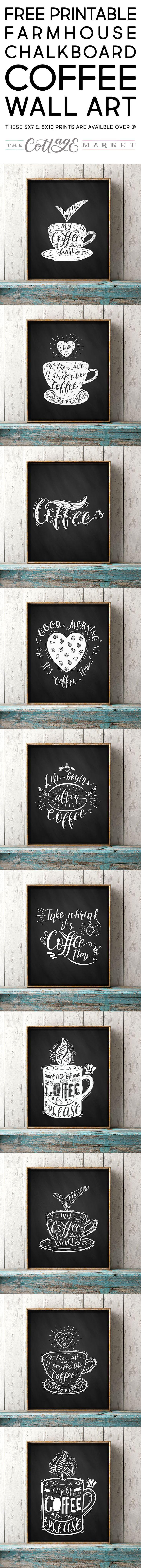 Free Printable Farmhouse Chalkboard Coffee Wall Art