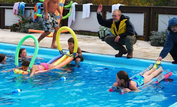 Water games #FairmontHotSpringsResort #BCRockiesAdventures #watergames #play #fun #hotsprings #adventure #activities