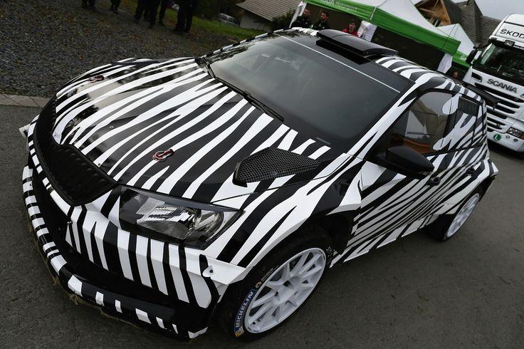 The New SKODA Fabia R 5 concept car in zebra look